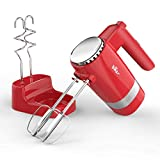 Hand Mixer, 2x5 Speed Electric Hand Mixers, 300W Egg Beaters Handheld with Storage Case and 4...