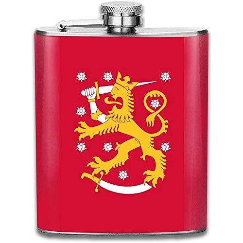 Flagge Von Finnland Mode Tragbare 304 Edelstahl Auslaufsicher Alkohol Whisky Schnaps Wein 7 Unze Topf Flachmann Reise Camping Flagon
