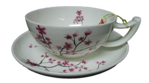 Tea Logic - Jumbotasse mit Untertasse Cherry Blossom 0.3L