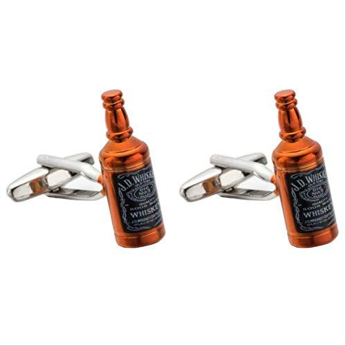 WSDXK Botón De Botella De Whisky De GamaAltaGemelos