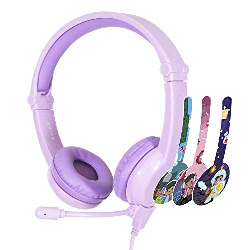 ONANOFF BuddyPhones Galaxy, Volume-Safe Gaming Headset for Kids, Detachable 3.5mm Jack with High-Performance BeamMic, Perfect for Gaming on a PS4, Xbox One, Nintendo Switch, or PC, Purple