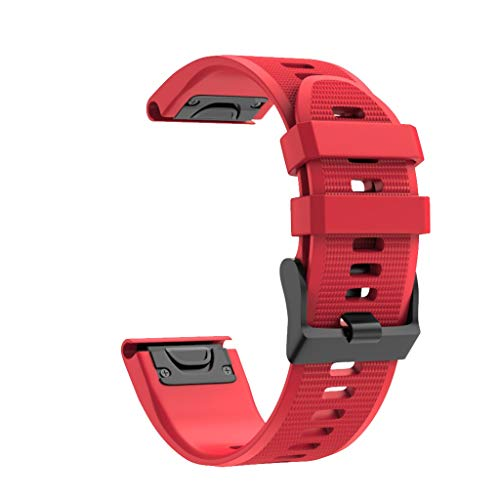 TeaBoy Compatible with Garmin Fenix 6X Band 26mm Easy Fit Silicone Smartwatch Bands Replacement Strap Compatible with Fenix 6X/Fenix 6X Pro/Fenix 5X/Fenix 5X Plus/Fenix 3/Fenix 3 HR