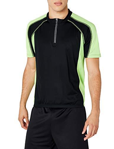 James & Nicholson Herren Kurzarm Bike T-shirt schwarz (black/lime-green) XX-Large