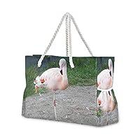 MORITA ピンクフラミンゴアメリカンモジョ エコバッグ マチ広 ショッピング 買い物 バッグ ナイロン カバン 鞄 大容量 レジバッグ おしゃれ かわいい プレゼント ギフト