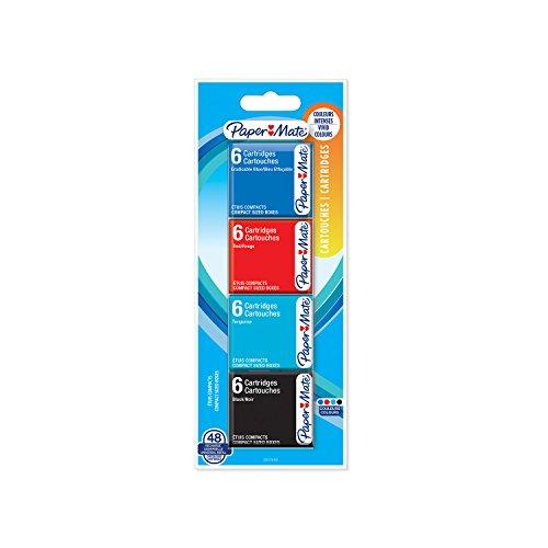 Paper Mate 2027692–Juego de 48Cartuchos para pluma estilográfica, colores surtidos