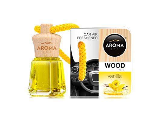Aroma Car Désodorisant Mini Wood Vanille 4Ml