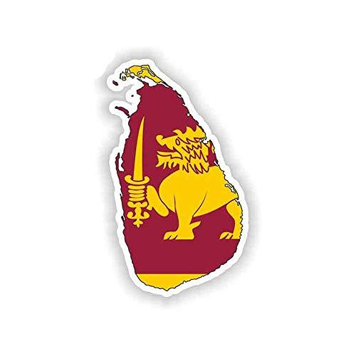 13 cm x 7,5 cm voor Sri Lanka kaart vlag Persoonlijkheid sticker reparatie sticker auto vrachtwagen sticker simulatie auto wrap