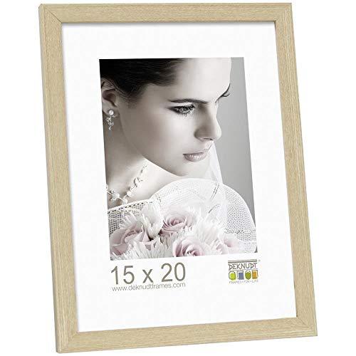 Deknudt Frames S44CH1-15.0X20.0 Bilderrahmen, Holz/MDF, Schlichter Stil, schmal, 23,2 x 18,2 x 1,33 cm, Eiche
