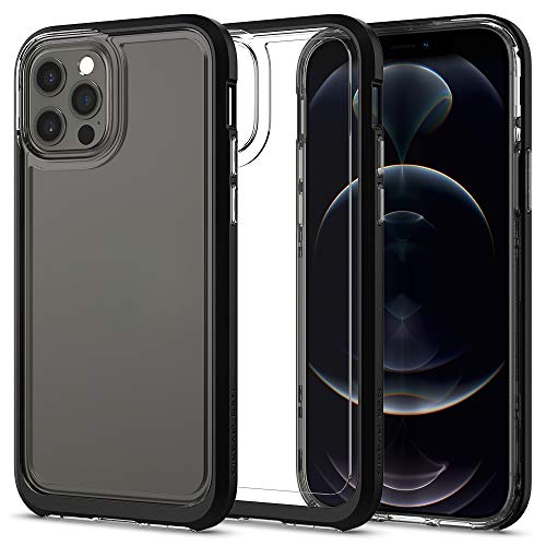 Spigen Cover Neo Hybrid Crystal Compatibile con iPhone 12 Compatibile con iPhone 12 PRO - Black