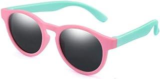 FRGTHYJ - FRGTHYJ Gafas de Sol polarizadas Gafas de Sol polarizadas Niños Niñas Gafas de Sol Gafas de Seguridad de Silicona Regalo UV400 Gafas de conducción Rosa-Verde-Gris