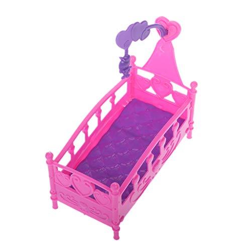 Fuwahahah Schaukelwiege Bett Puppenhaus Spielzeug Möbel für Kelly Barbie Puppe Zubehör Mädchen Spielzeug Geschenk