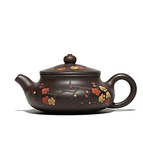 Ręcznie robiony czajniczek fioletowy gliniany czajniczek ręcznie malowany gliniany garnek naklejki Plum Home Teapot (kolor: Zhu Mu)
