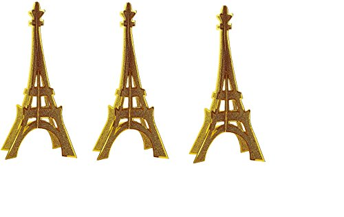 Glittered 3-D Eiffel Tower Centrepiece Party Accessory (3-Pack)