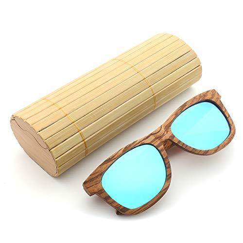 MXBIN Cebra de Madera al Aire Libre UV400 Gafas de Sol polarizadas...