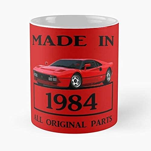 Fer-rari 288 GTO 1984 - Taza de café clásica roja de cerámica de 325 ml