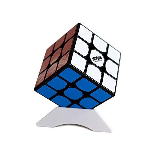 OJIN MO FANG GE Der Neue Thunderclap V2 3x3 Cube MoFangGe Leishen mit einem Würfelstativ (Schwarz)