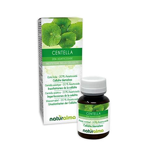 CENTELLA (Centella asiatica) erba Naturalma | 20% Asiaticoside | 120 Compresse da 500 mg | Anticellulite, drenante, ritenzione idrica e microcircolo | Integratore con estratto titolato e concentrato | Vegano