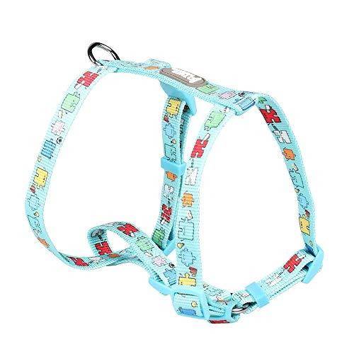 Qiuge Haustierleine hund sicherheit weste harness, haustierwagensitzgurt mit verstellbarer gürtel und schnalle clip autositzgurt, einfach zu kontrollieren, for reisesicherheit einstellbar for große un
