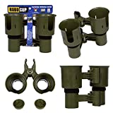 RoboCup, OLIVE, UPDATED VERSION, Patented Portable Caddy, Clamp on Clip On Holder for Two Drinks, Cups, Bottles, Liquids, Rods, Poles, Gear, Drum Sticks, Tools, Phone, Keys, Glasses, GPS, Flashlight and more. With no tools required, it clamps instant...