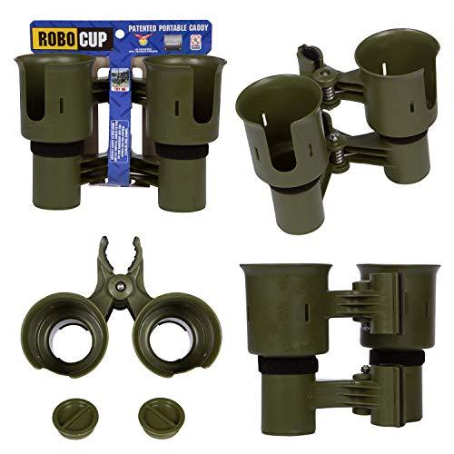 Robo Cup portavasos Doble, Pinza de Clip en múltiples usos: Bebidas, caña de Pescar, Herramientas, Palo de Tambor, Playa, Oliva