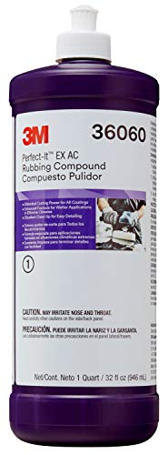 3M Perfect-It EX AC Rubbing Compound, 36060, Quart