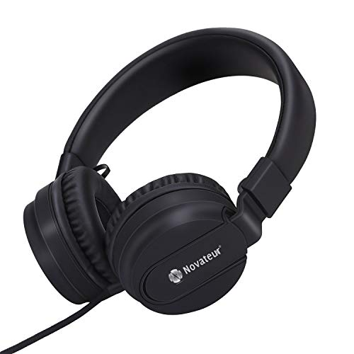 Novateur R11 Headphones with Mic and Extra Bass (Black)