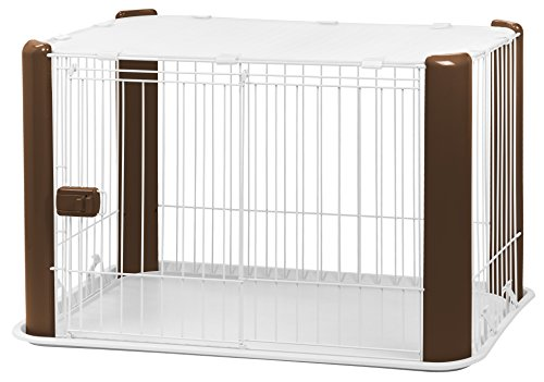 IRIS USA Wire Pet Cage with Mesh Roof