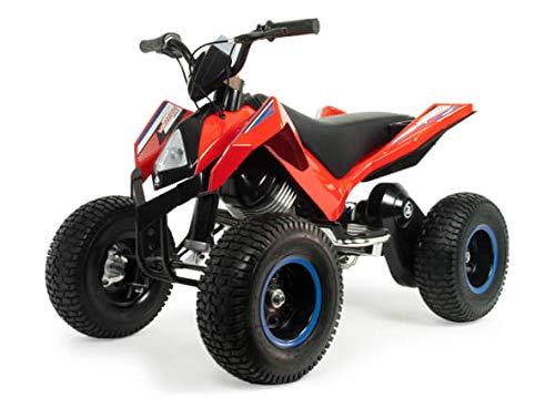 INJUSA 24 V Hunter Quad eléctrico con Ruedas antipinchazos, Detector de obstáculos, para niños Entre 7 y 11 años, Color Rojo y Negro (6024)