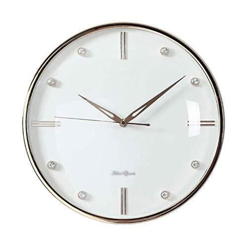 HEKRW Reloj de Pared, Reloj silencioso Convexo, Ronda de la decoración del hogar del Reloj de Pared Sin Tick