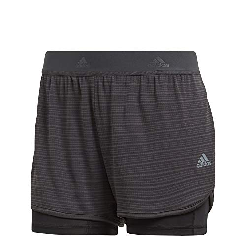 adidas Damen Shorts 2In1 Chill, Carbon, S, CW4054