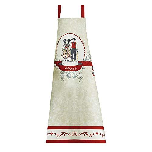 Winkler - Tablier de cuisine - Tablier de cuisine réglable - Tablier pour la cuisine - Tablier barbecue - Tablier 100% Coton - 72 x 84 - Ecru - Tipisch