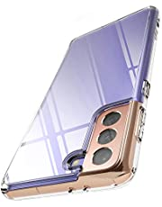 Ringke Fusion Kompatibel med Galaxy S21 Skal Transparent PC Bakskal med TPU Skyddande Stötfångare Fodral - Transparent
