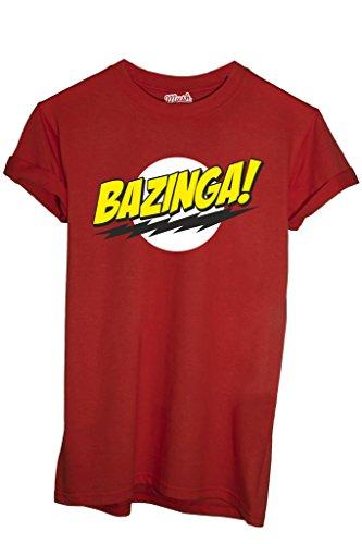 MUSH T-Shirt Bazinga Big Bang Theory-Serie TV by Dress Your Style - Uomo-M-Rossa