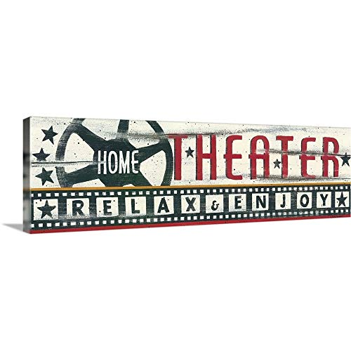 Home Theater Canvas Wall Art Print, 60'x20'x1.25'