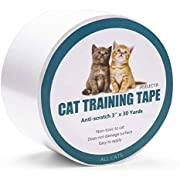 Jxselect Anti-Scratch Cat Training Tape, Cat Scratch Prevention Tape for Furniture,Couch,Door,Carpet,Pet Scratch Protector, 3 Inches x 30 Yards