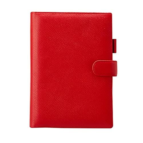 Diario de Cuaderno Cuadernos Tamaño 9.2 × 7.4in A5 Cowhide Cowhide Notebook 100 Páginas Miembro Bloc De Notas Estudiantes Oficina Bloc de Notas de Papel Grueso de Primera Calidad