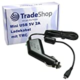 Trade-Shop Mini USB KFZ-Ladekabel 5V 2A mit TMC Antenne für Navigon Garmin Falk Becker Blaupunkt Navigationssysteme/für 12V Anschlüsse