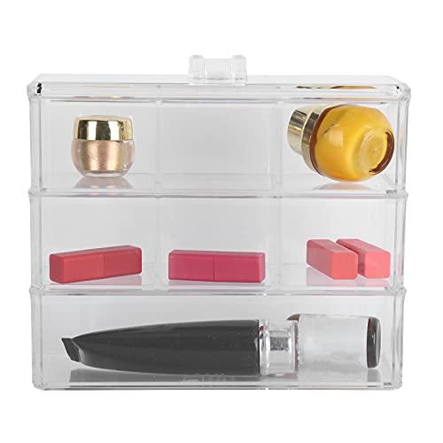 Qini Caja de exhibición de joyería, Gran Espacio de Almacenamiento Duradero, Organizador de Almacenamiento de cosméticos de múltiples Capas para una fácil Visibilidad para el mostrador del baño