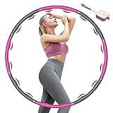 KISSCAT Fitness Hula Hoop Reifen Erwachsene & Kinder, 6-8 Segmente Abnehmbarer Fitness Hoola Hoop Reifen zur Abnehmen, Ausbildung und Massage, Verschenken Mini Bandmaß
