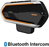 Baile Motorcycle Bluetooth Headset,1000M Helmet Bluetooth Communication Systems Ski Helmet Headphones Bluetooth Intercom Walkie-Talkie for Snow Mobile,Up to 3 Riders (Handsfree,FM Radio, Waterproof)