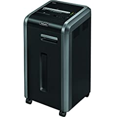 "Shreds up to 20 sheets per pass into 5/32"" x 1.5"" strips 