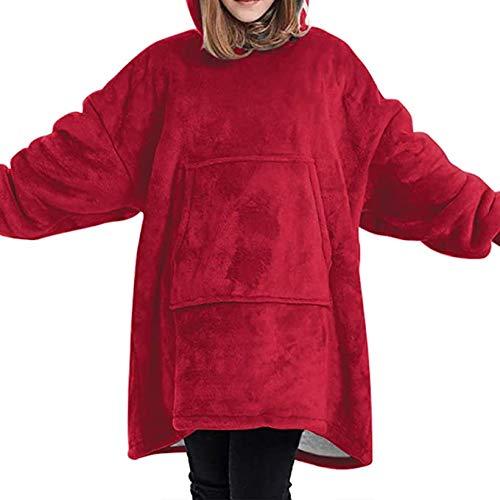 KISSAI The Original Sherpa - Sudadera con capucha de gran tamaño con bolsillo delantero grande, suave, acogedora y cálida