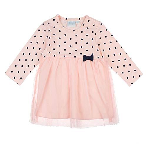 Feetje Baby-Mädchen Kleid Langarm mit Punkteprint und Tüllrock, rosa (150), 86