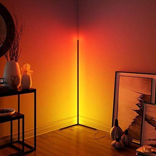 Floor Lamp, RGB, 142Cm American Plug, with Remote Control and Online Switch, Product Color: Black, 20W Modern Night Standing Led Floor Lamp Design Bedroom Led Living Ligh from The United States