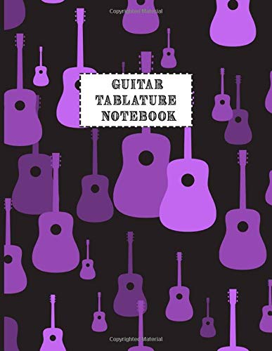 Guitar Tablature Notebook: Design With music pattern with guitars Guitar Blank Tablature Book For Guitar composing guitar music Notes And Perfect Gifts For Guitar Lovers