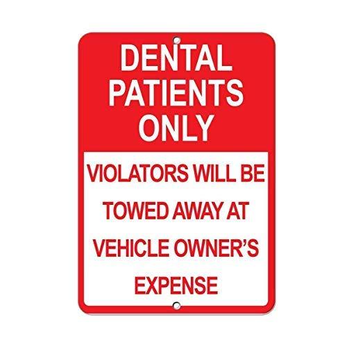 Warnschilder Dental Patients Only