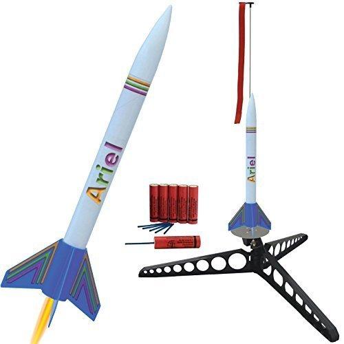 Raketenmodellbau Klima GmbH Ariel Modellrakete mit Umfangreichem Zubehör: Schnellbausatz komplett mit Startrampe, Treibsätzen und Schutzwatte! - Landung erfolgt mittels Fallschirm
