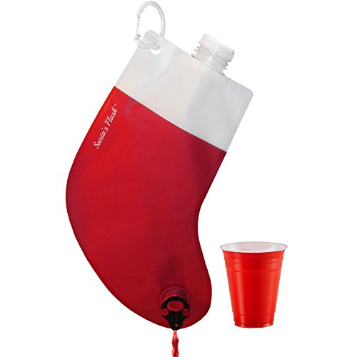 Party Flasks Santa Drink Beverage Dispenser Funny Holiday Gag Gifts for Liquor and Wine for Christmas Party Celebration