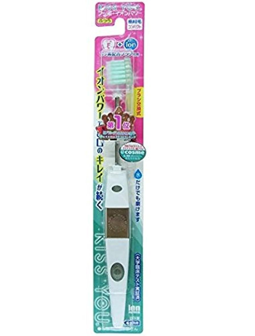 女性大人農民フッ素イオン歯ブラシ極細コンパクト本体ふつう × 6個セット