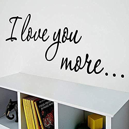 Moderne eenvoud Ik hou van u Engels Gerucht Woonkamer Slaapbank Porch Achtergrond Persoonlijkheid Creatieve Decoratieve Muurstickers